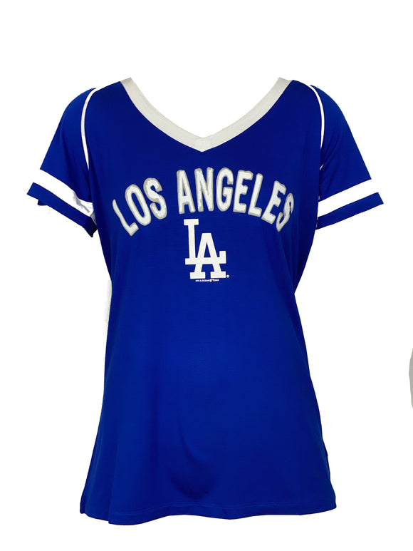 LOS ANGELES DODGERS WOMEN'S FROST STRIPE T-SHIRT