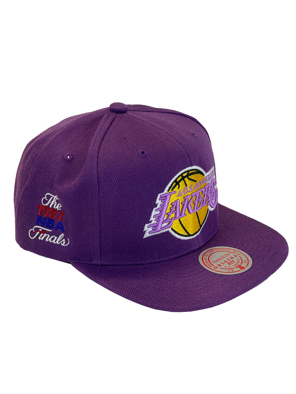 LOS ANGELES LAKERS 1987 FINALS PATCH SNAPBACK