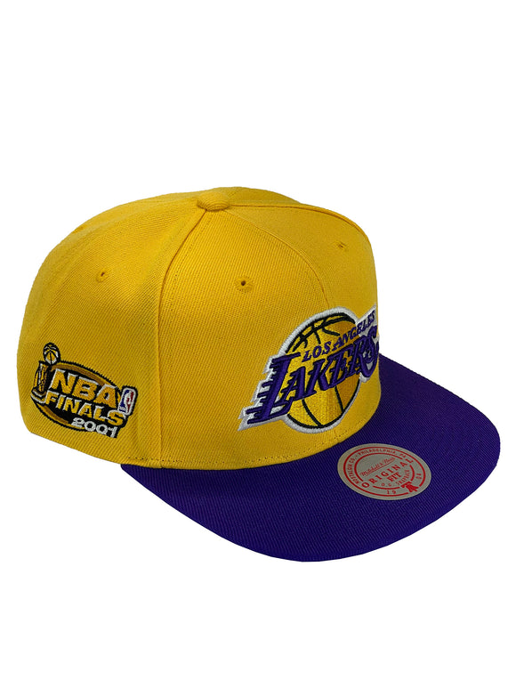 LOS ANGELES LAKERS 2001 FINALS PATCH SNAPBACK