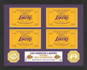 LOS ANGELES LAKERS BANNER COLLECTION PHOTO