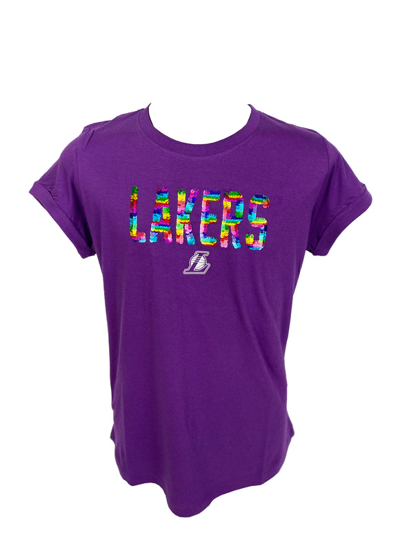 LOS ANGELES LAKERS GIRLS SEQUINS T-SHIRT