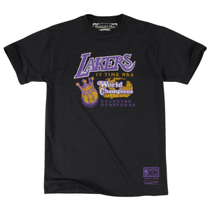 LOS ANGELES LAKERS MEN'S 17X WORLD CHAMPS T-SHIRT