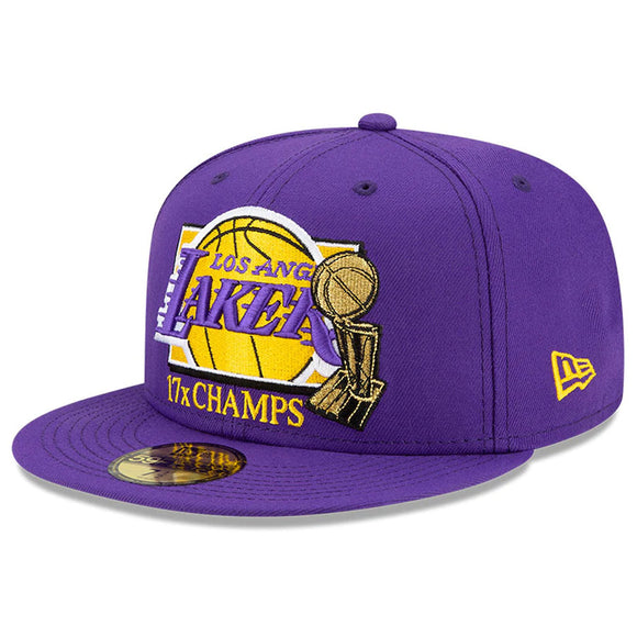 LOS ANGELES LAKERS MULTI CHAMPS 59FIFTY FITTED