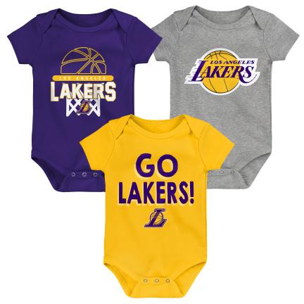 LOS ANGELES LAKERS NEWBORN BORN TO WIN 3-PIECE SET