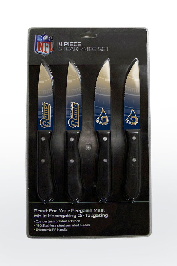 LOS ANGELES RAMS 4PK KNIFE SET