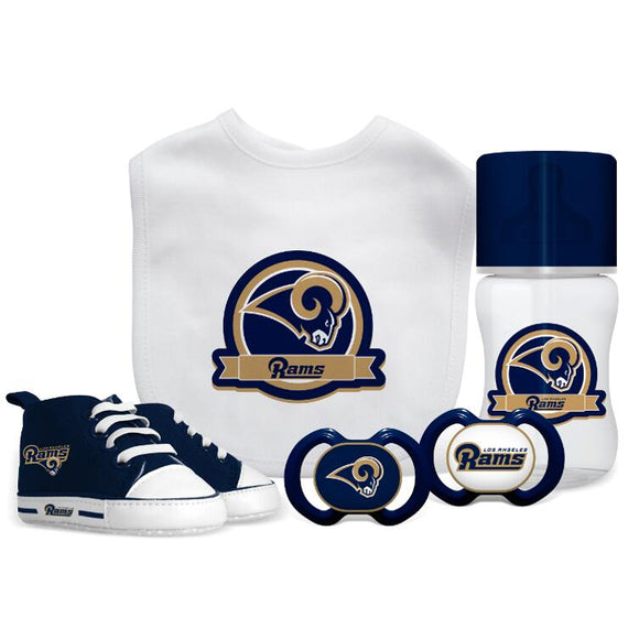 LOS ANGELES RAMS BABY 5PC GIFT SET