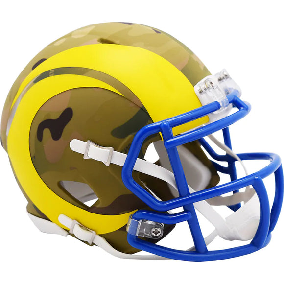 LOS ANGELES RAMS CAMO MINI SPEED HELMET