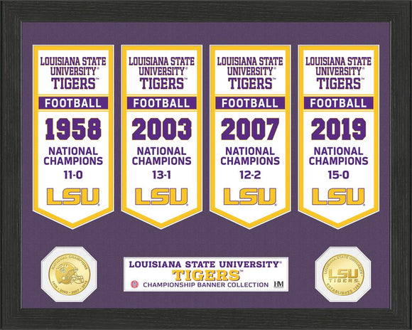 LSU TIGERS BANNER COLLECTION PHOTO