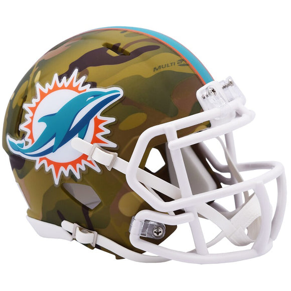MIAMI DOLPHINS CAMO MINI SPEED HELMET