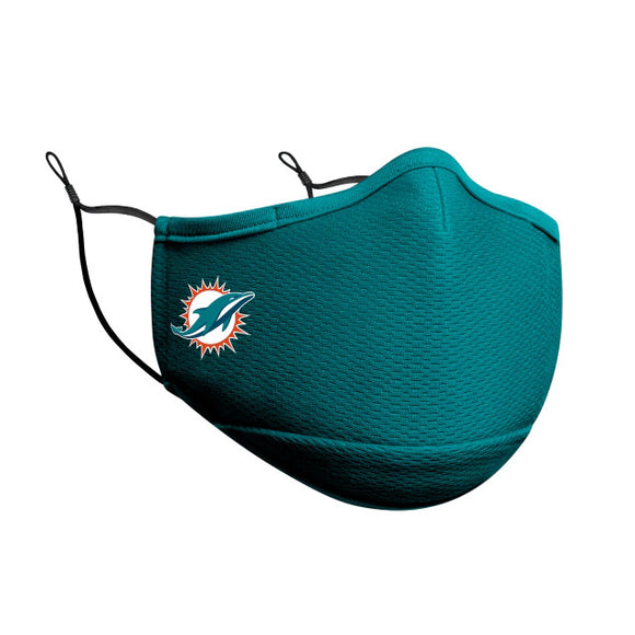 MIAMI DOLPHINS FACE MASK-AQUA