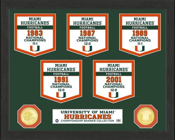 MIAMI HURRICANES BANNER COLLECTION PHOTO
