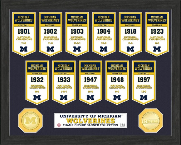 MICHIGAN WOLVERINES BANNER COLLECTION PHOTO