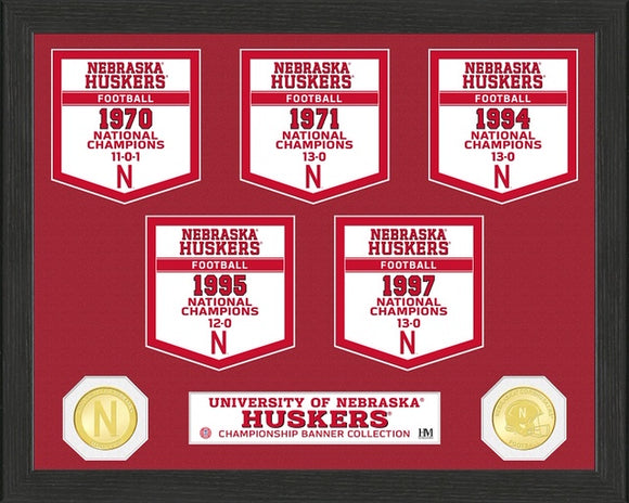 NEBRASKA CORNHUSKERS BANNER COLLECTION PHOTO