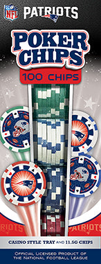 NEW ENGLAND PATRIOTS 100PC POKER CHIPS
