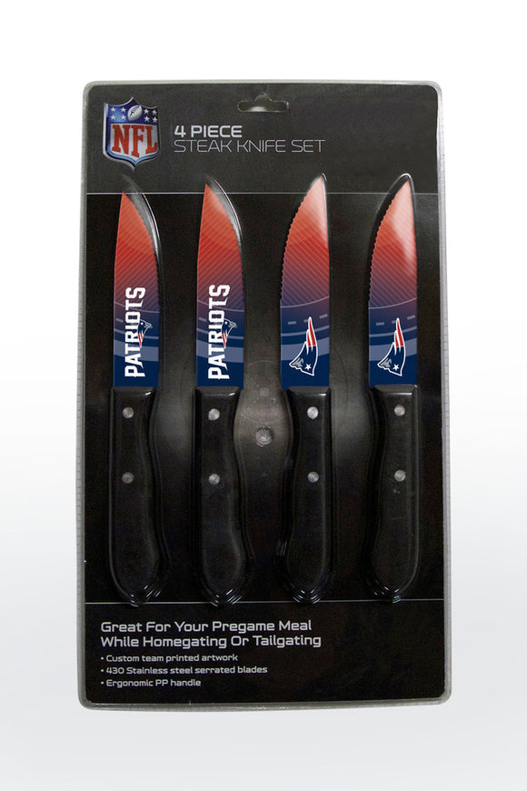 NEW ENGLAND PATRIOTS 4PK KNIFE SET