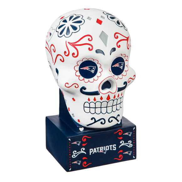 NEW ENGLAND PATRIOTS SUGAR SKULL HEAD