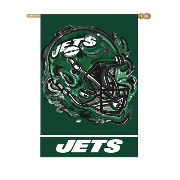 NEW YORK JETS JUSTIN PATTEN SUEDE HOUSE FLAG
