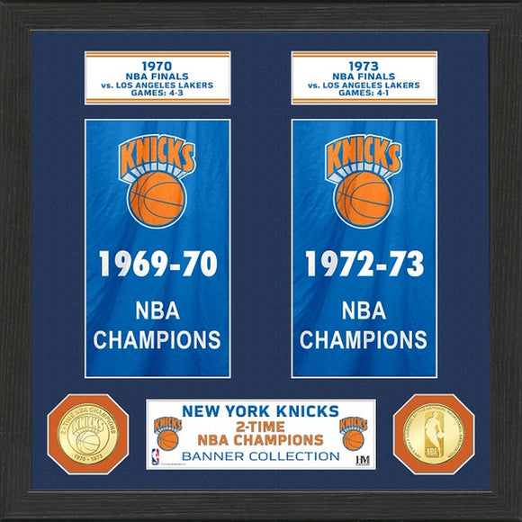 NEW YORK KNICKS BANNER COLLECTION PHOTO