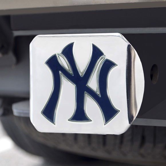 NEW YORK YANKEES CHROME COLOR LOGO HITCH