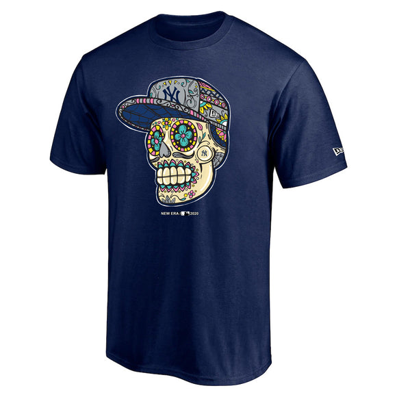 NEW YORK YANKEES MEN'S SUGAR SKULL T-SHIRT
