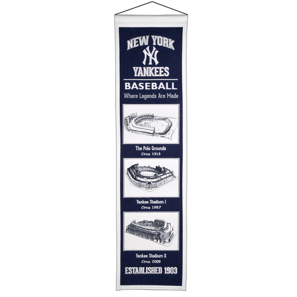 NEW YORK YANKEES STADIUM EVOLUTION BANNER