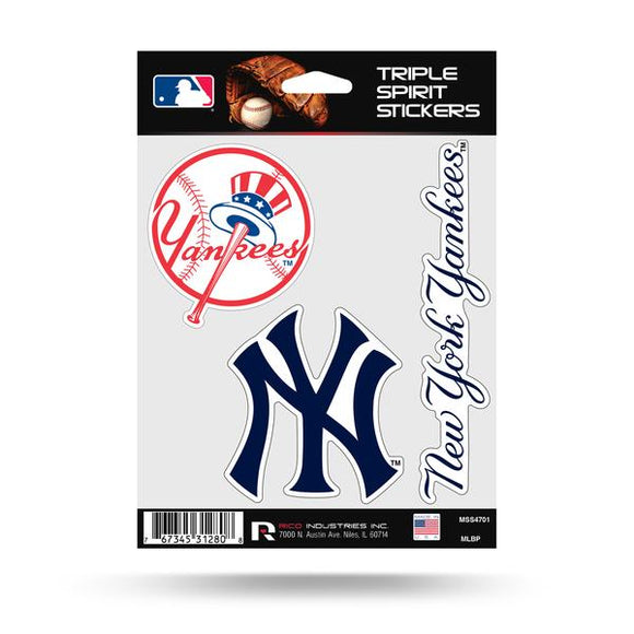 NEW YORK YANKEES TRIPLE SPIRIT DECAL