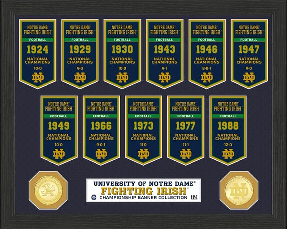 NOTRE DAME FIGHTING IRISH BANNER COLLECTION PHOTO