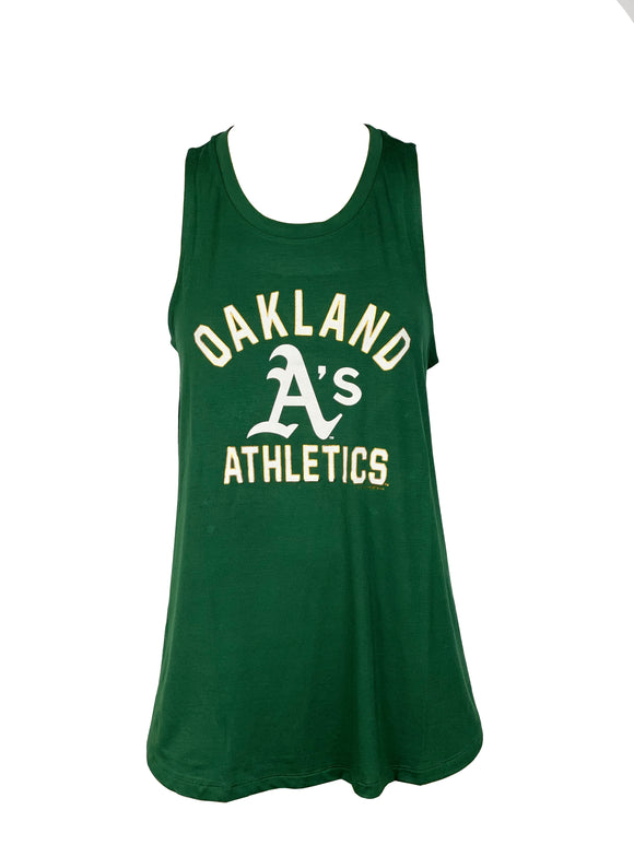 OAKLAND ATHLETICS WOMEN'S SCRIPT LOGO TANK TOP