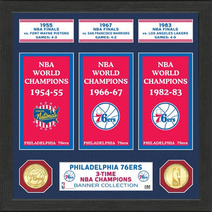PHILADELPHIA 76ERS BANNER COLLECTION PHOTO