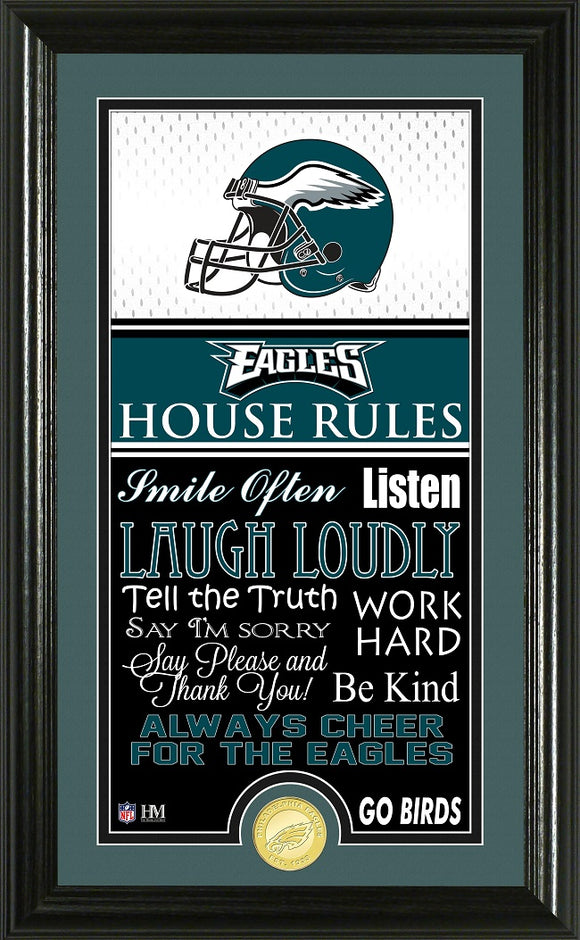 PHILADELPHIA EAGLES JERSEY HOUSE RULES SUPREME PHOTO MINT