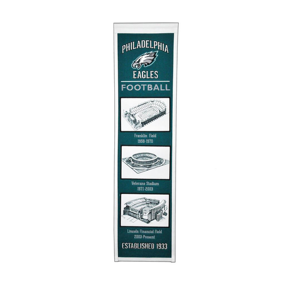 PHILADELPHIA EAGLES STADIUM EVOLUTION BANNER
