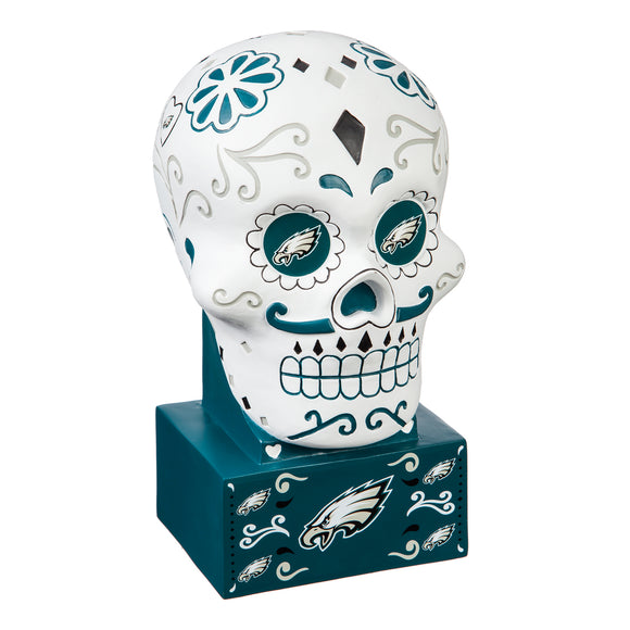 PHILADELPHIA EAGLES SUGAR SKULL HEAD