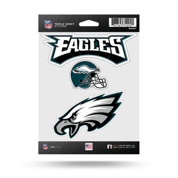 PHILADELPHIA EAGLES TRIPLE SPIRIT DECAL