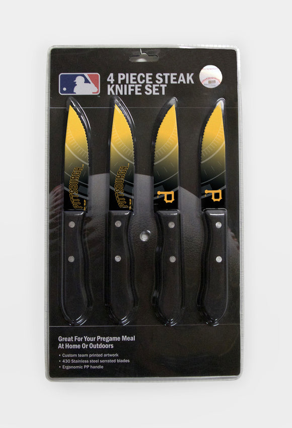 PITTSBURGH PIRATES 4PK KNIFE SET