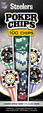 PITTSBURGH STEELERS 100PC POKER CHIPS
