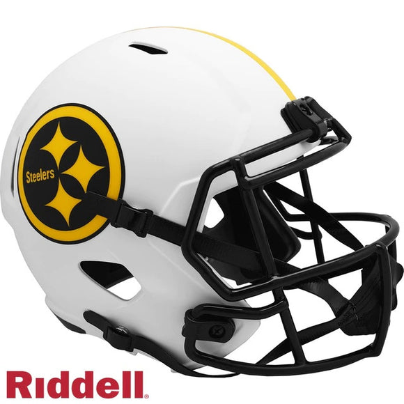 PITTSBURGH STEELERS FULL SIZE LUNAR REPLICA SPEED HELMET