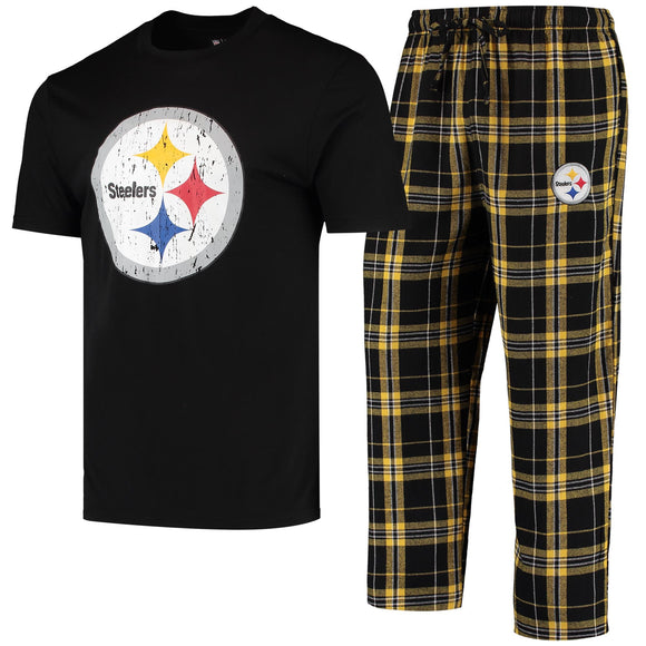 PITTSBURGH STEELERS MEN'S ETHOS SHIRT & PANT PJ SET