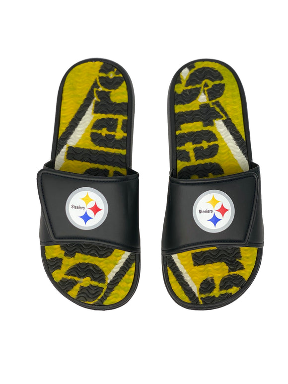 PITTSBURGH STEELERS MEN'S GEL SLIDES