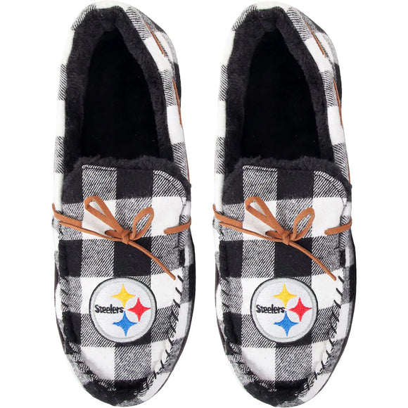 PITTSBURGH STEELERS MEN'S MOCCASIN SLIPPERS