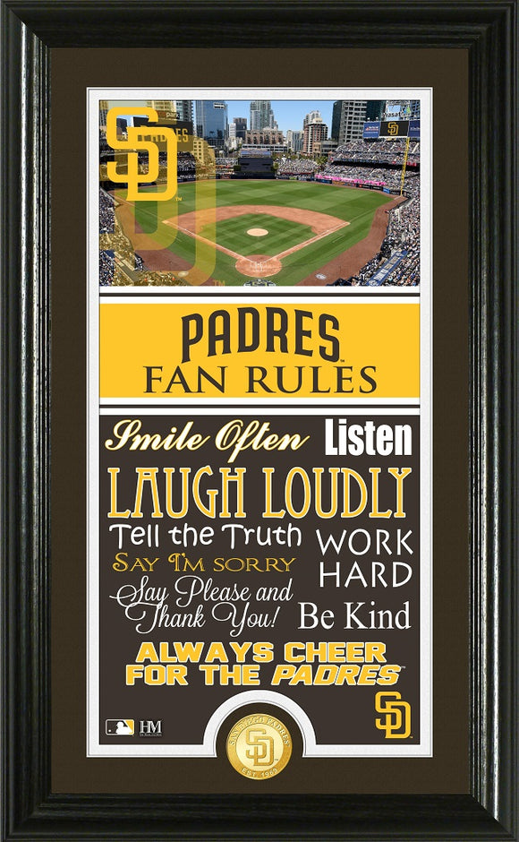 SAN DIEGO PADRES FAN RULES SUPREME BRONZE COIN PHOTO MINT