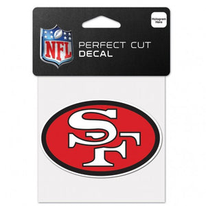 "SAN FRANCICSO 49ERS PERFECT CUT 4""X4"" RETRO DECAL"
