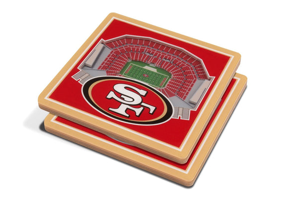 SAN FRANCISCO 49ERS 3D COASTER