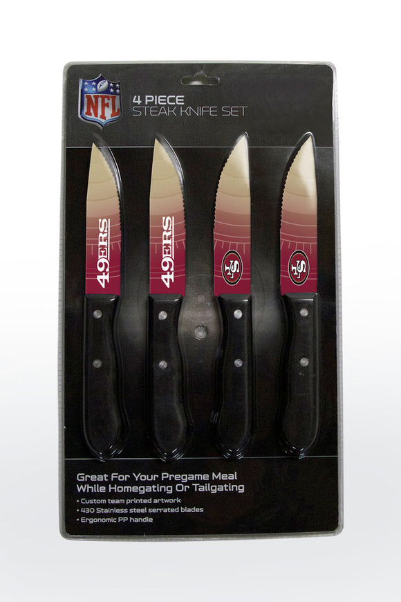 SAN FRANCISCO 49ERS 4PK KNIFE SET