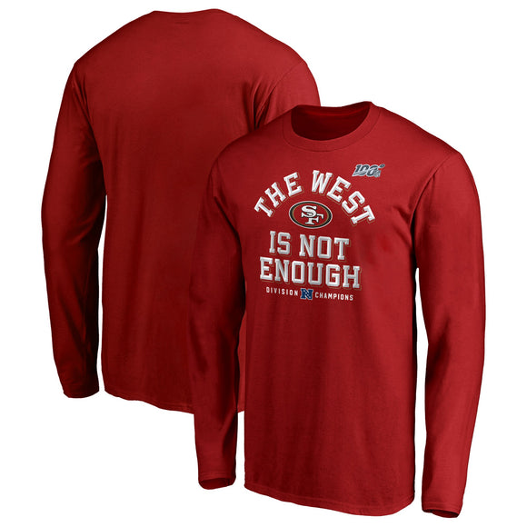 SAN FRANCISCO 49ERS COVER TWO NFC WEST DIVISION CHAMPS LONG SLEEVE