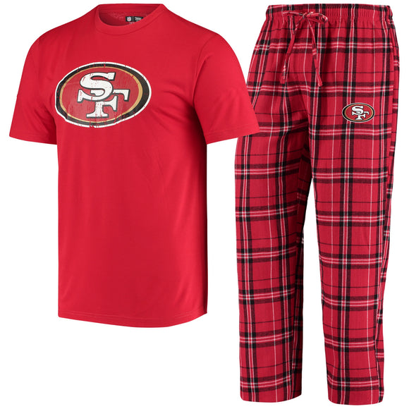 SAN FRANCISCO 49ERS MEN'S ETHOS SHIRT & PANT PJ SET