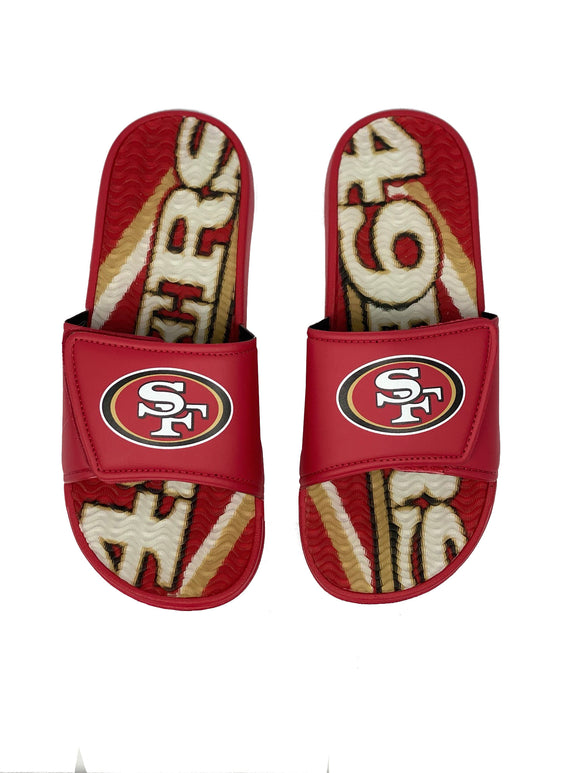 SAN FRANCISCO 49ERS MEN'S GEL SLIDES