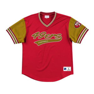 SAN FRANCISCO 49ERS MEN'S TOP PROSPECT MESH V-NECK SHIRT