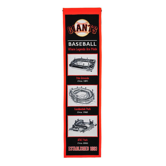 SAN FRANCISCO GIANTS STADIUM EVOLUTION BANNER