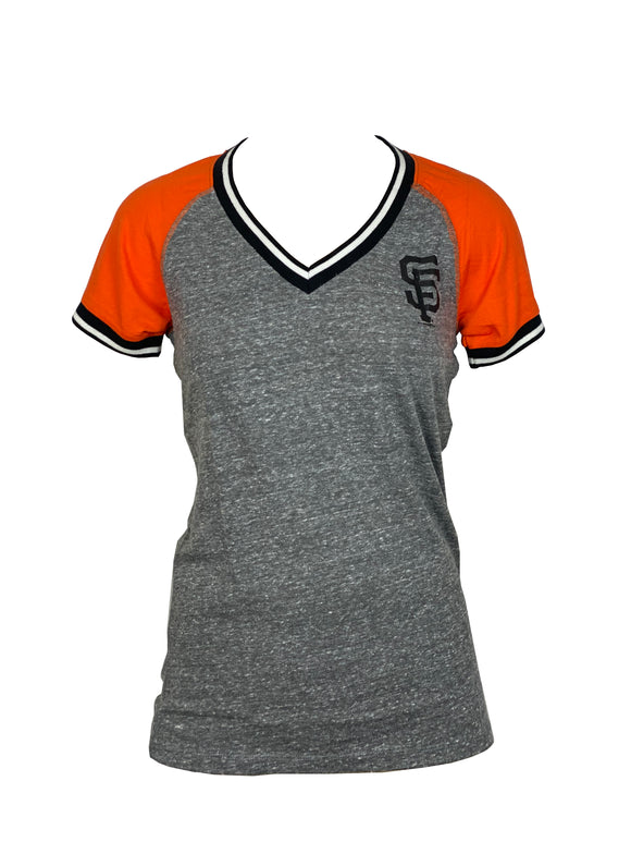 SAN FRANCISCO GIANTS WOMEN'S STRIPE NECK T-SHIRT