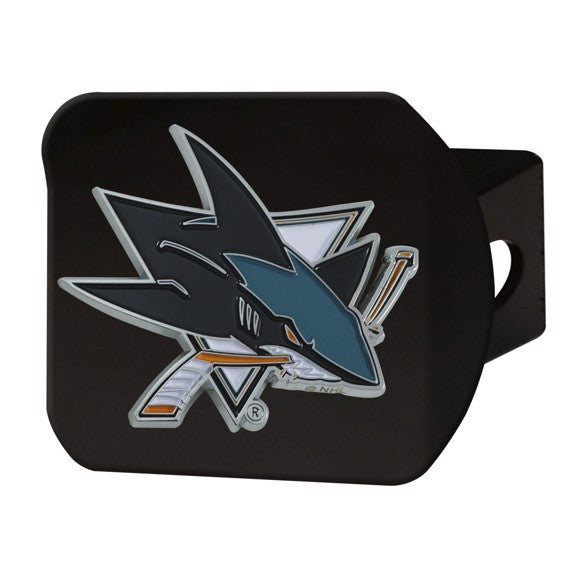 SAN JOSE SHARKS BLACK LOGO HITCH